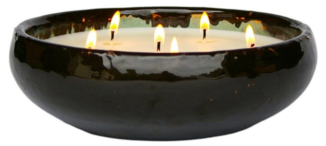 6-Wick Black Candle, Winter Spice