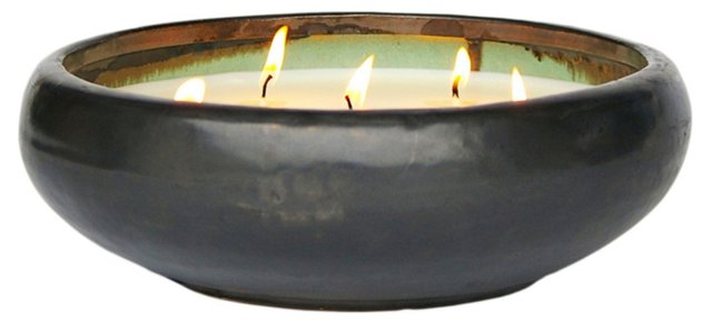 6-Wick Gunmetal Candle, Winter Spice