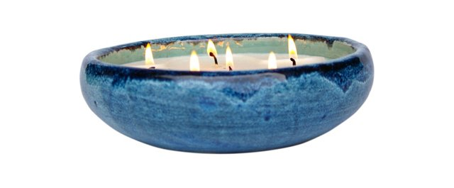 6 Wick Blue Candle, Winter Spice