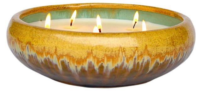 6-Wick Gold Candle, Winter Spice