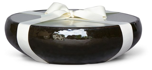 12-Wick Black Candle, Unscented