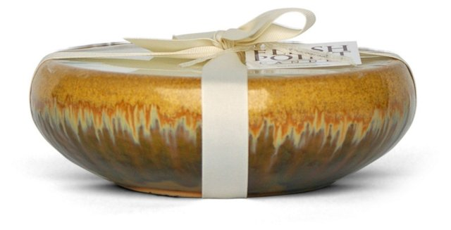6-Wick Gold Candle, Linen