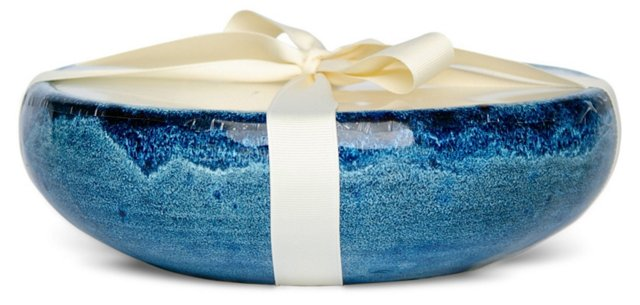 6-Wick Mission Blue Candle, Linen