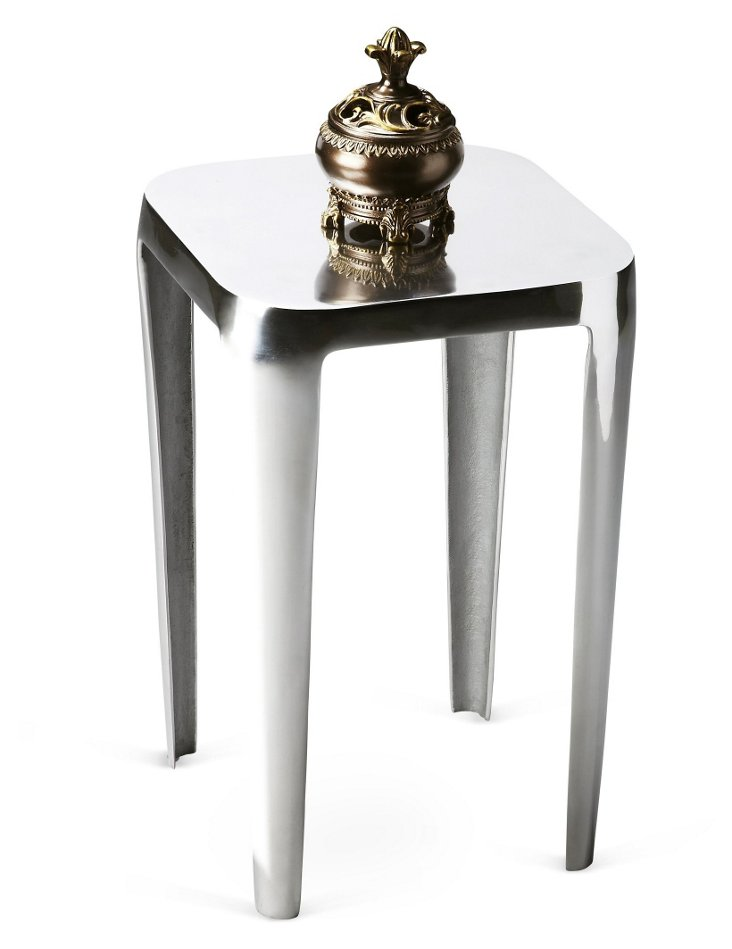 Miles Accent Table, Nickel
