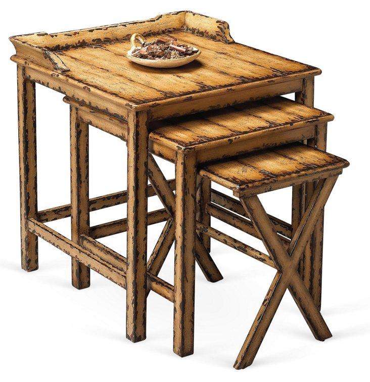 Wheat Natalie Nesting Tables, Set of 3