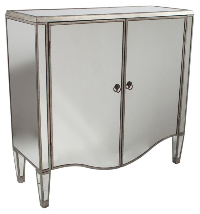 Brady Mirrored Chest, Pewter