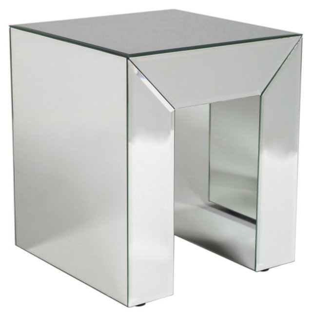 Dana Mirrored Side Table