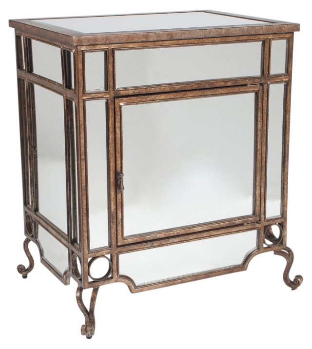 Christie Mirrored Side Table