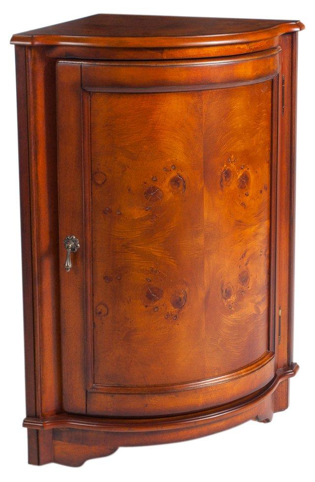 Elliot Corner Cabinet, Honey