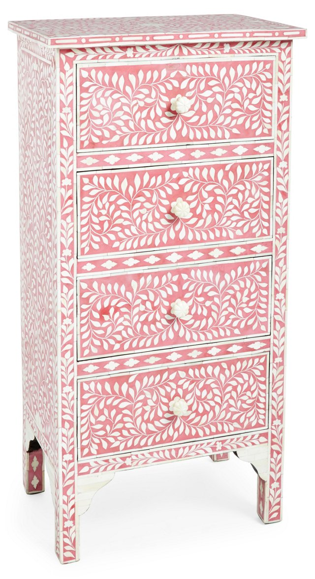 Bridget Chest, Rose/Ivory