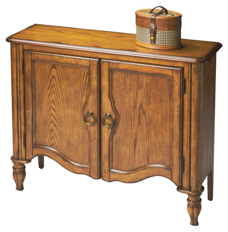 William Console Cabinet, Honey