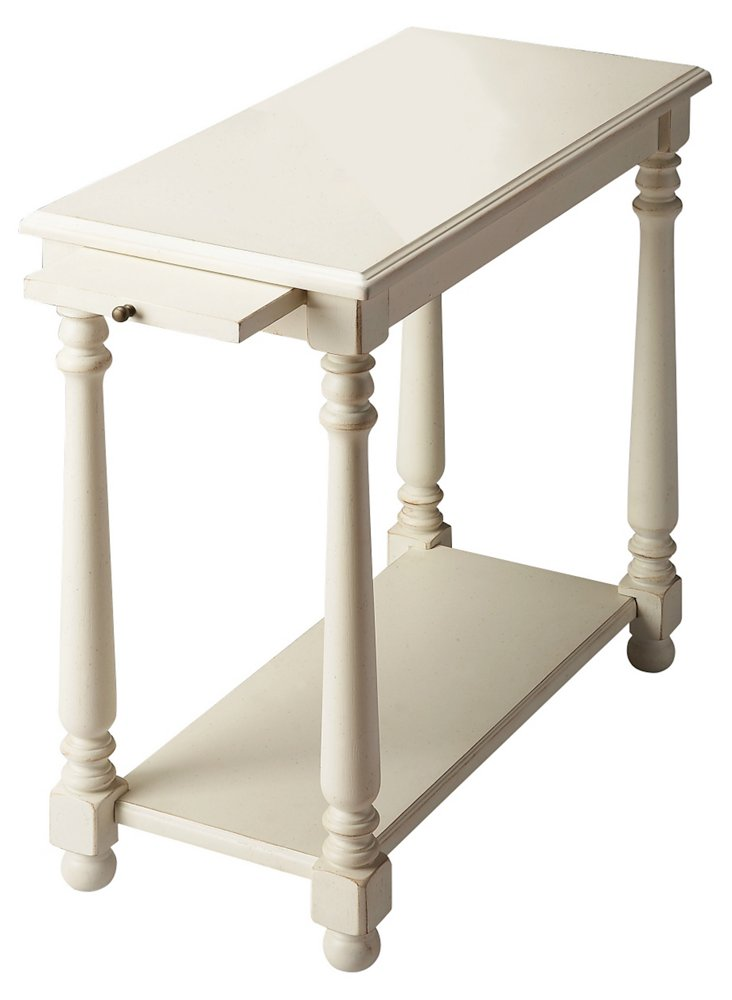 *Catalina End Table, White