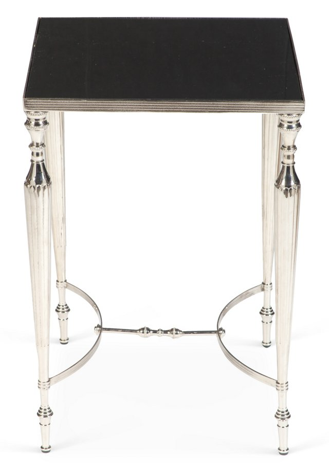 Russel Side Table, Black/Silver