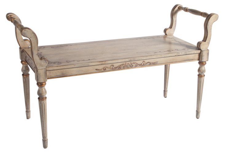 Verde Bench, Distressed Cream