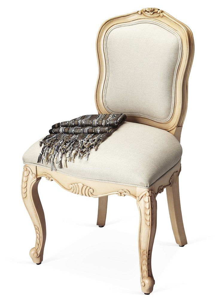 Carlotta Side Chair, Parchment/Ivory