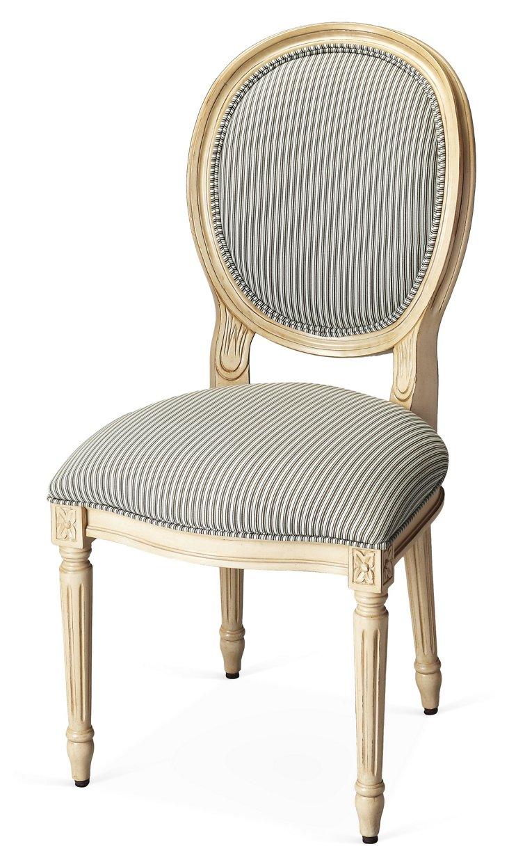 Georgina Side Chair, Black/White