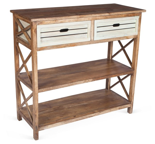 Carter 2-Drawer Console, Natural