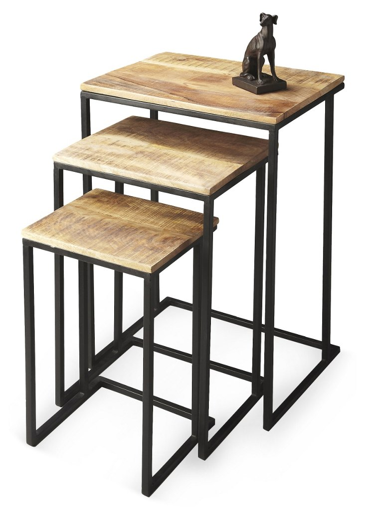 Natural Bruce Nesting Tables, Set of 3