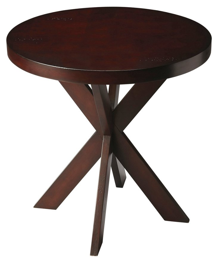 Carter Accent Table, Chocolate