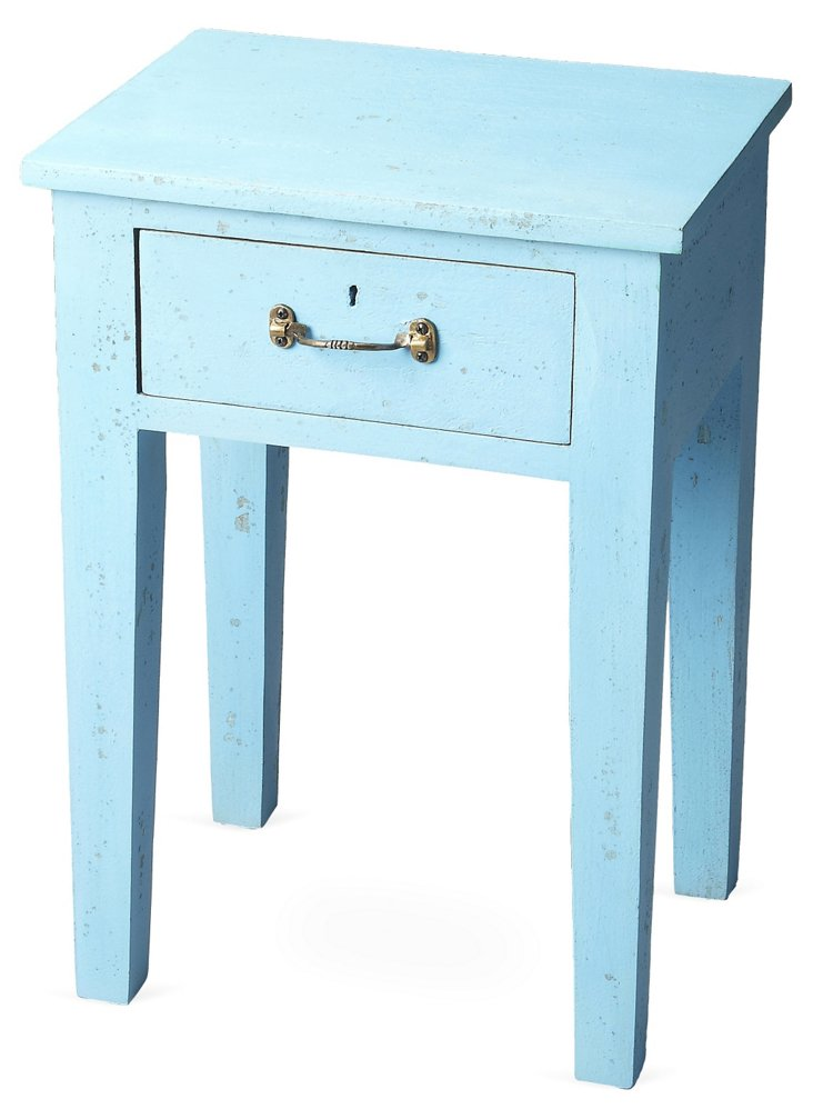 Smith Nightstand, Distressed Sky Blue