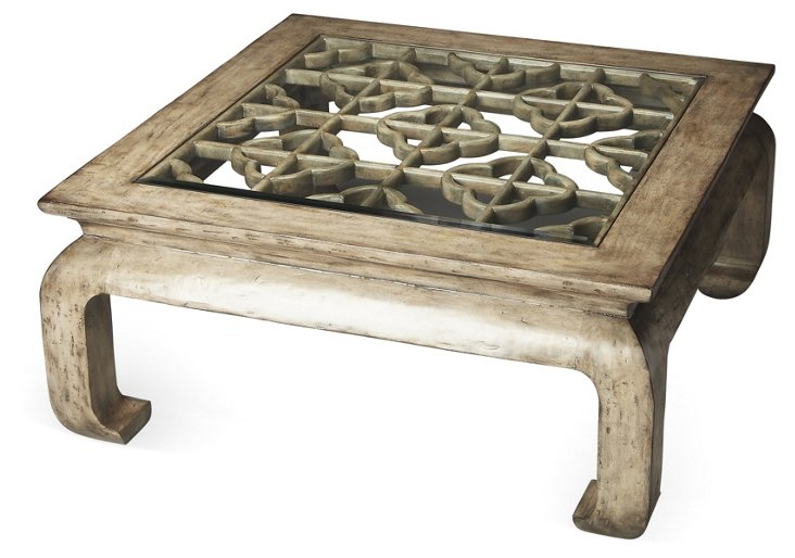 Lila Coffee Table, Distressed Gray
