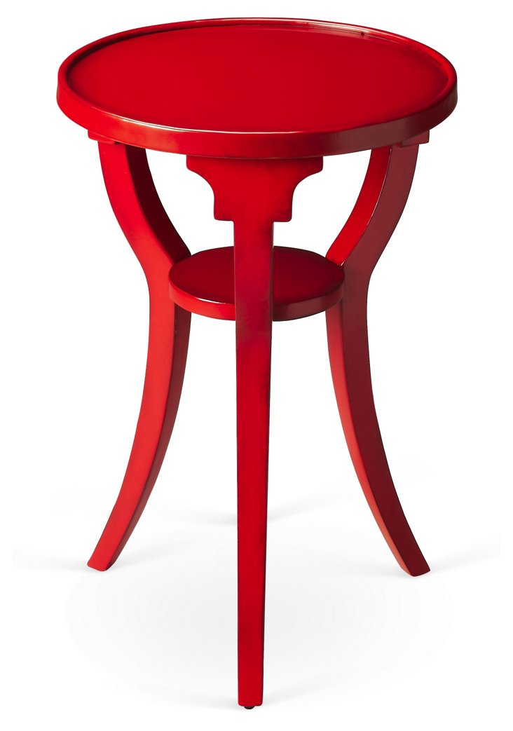 Breck Side Table, Red