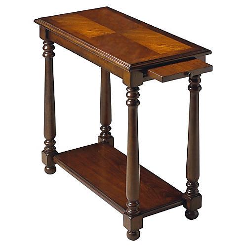 Dabria Wedge Table w/ Tray, Mocha