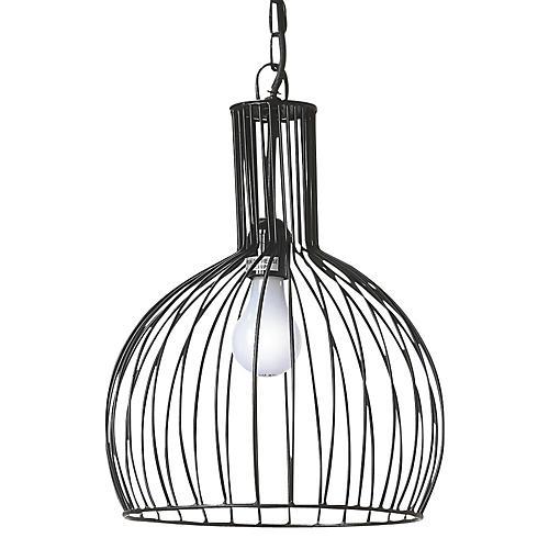 1-Light Industrial Pendant, Black