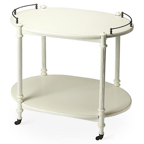 Rachel Bar Cart, White