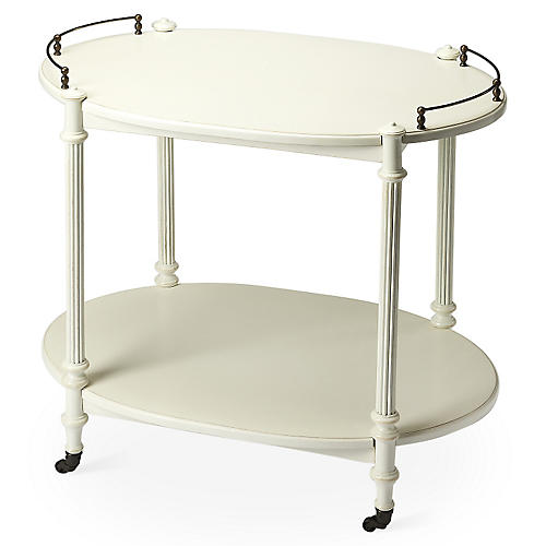 Rachel Bar Cart, White