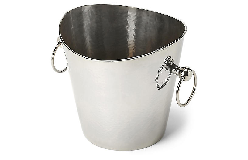 Hammered Wine Bucket, Silver