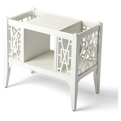 "24"" Porter Magazine Rack, White"