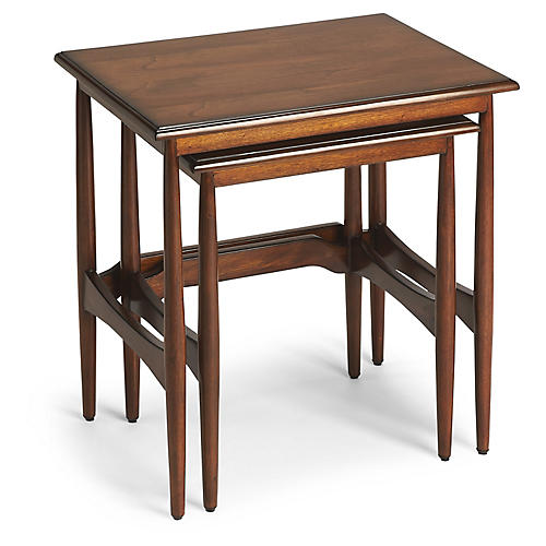 Asst. of 2 Ackerley Nesting Tables, Mahogany