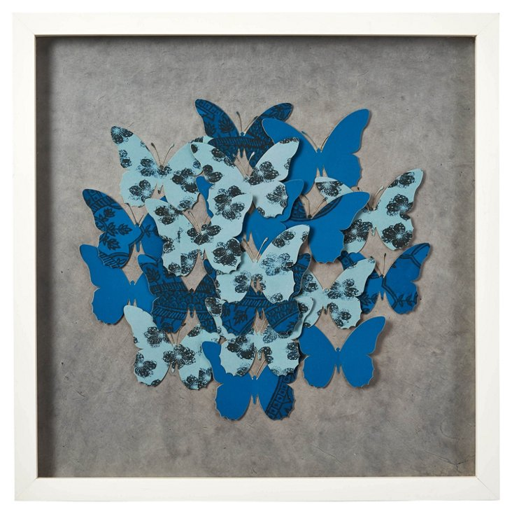 Cut Washi Paper Butterfly Collage I