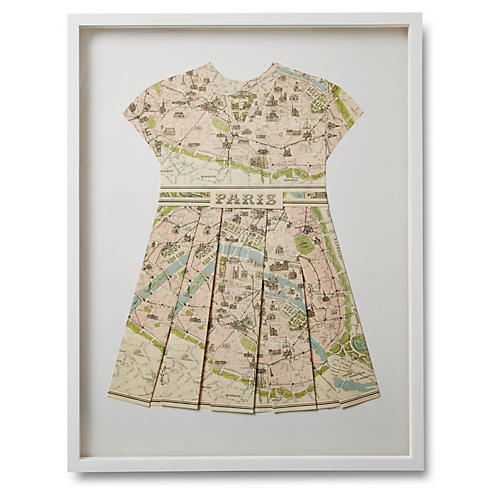 Dawn Wolfe Folded Map Dress, Paris