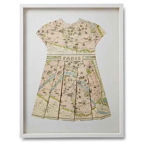 Dawn Wolfe Folded Map Dress, Paris