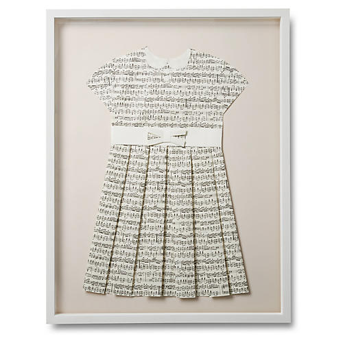 Folded Music Dress, Pink