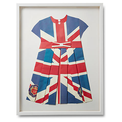 Folded British Flag Dress