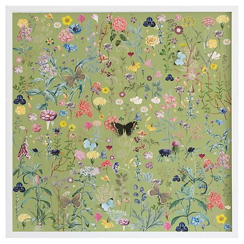 Dimensional Flower Pattern: Green, Dawn Wolfe