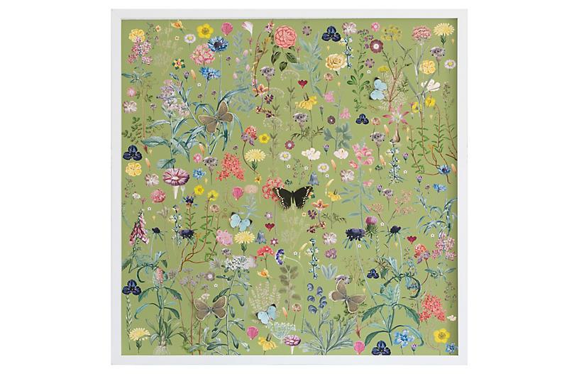 Dawn Wolfe, Dimensional Flower Pattern: Green