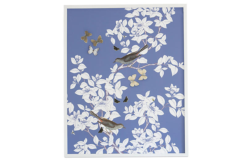 Dawn Wolfe, Dimensional Chinoiserie: Periwinkle