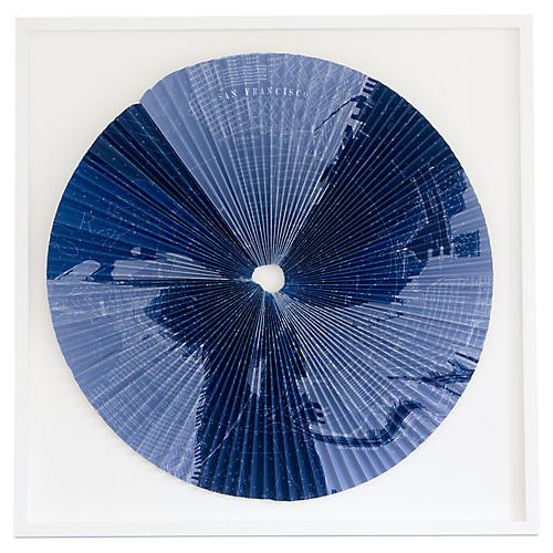 Dawn Wolfe, Pleated Map: San Francisco