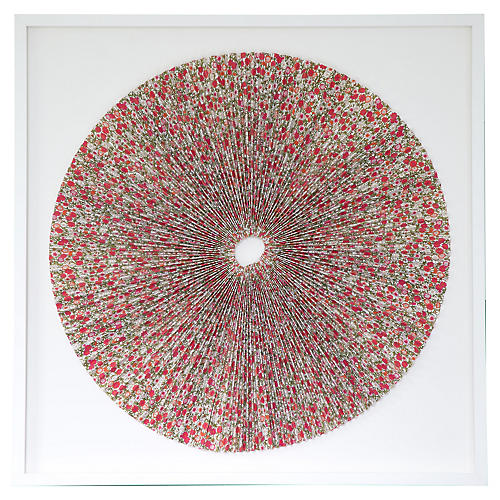 Pleated Red Flowers, Dawn Wolfe