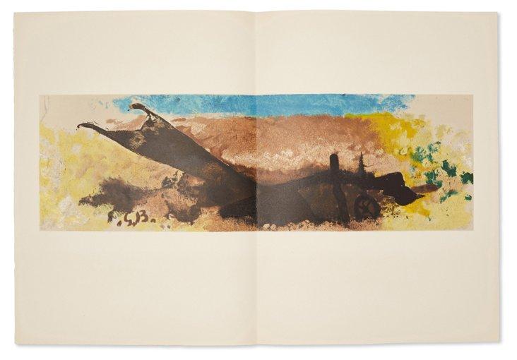 Braque, Charre, 1960, Huile sur Toile