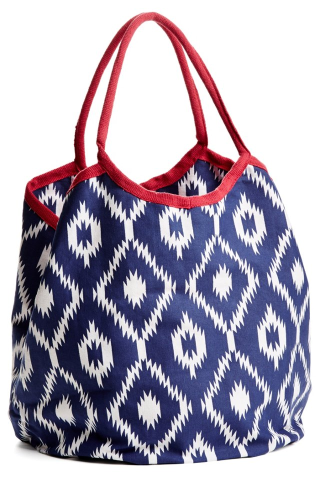 India Diamond Hampton Tote, Navy