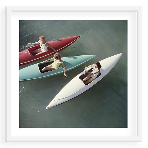 Slim Aarons, Canoeing Lake Tahoe
