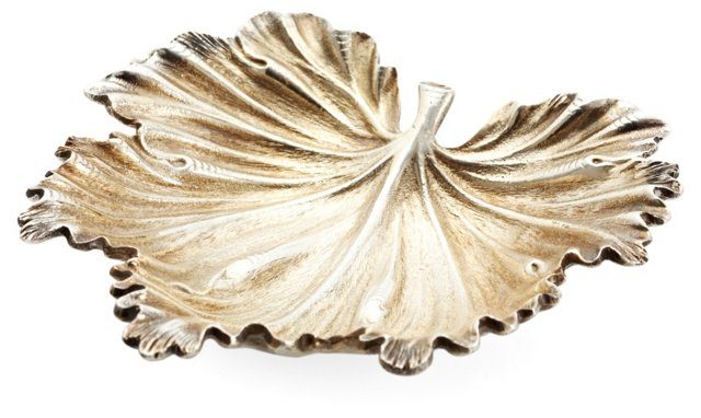 Sterling Vermeil Leaf, Medium