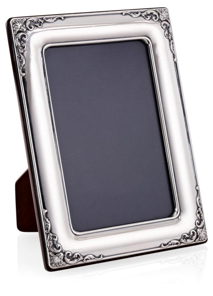 "Sterling Silver Scroll Frame, 5"" x 7"""