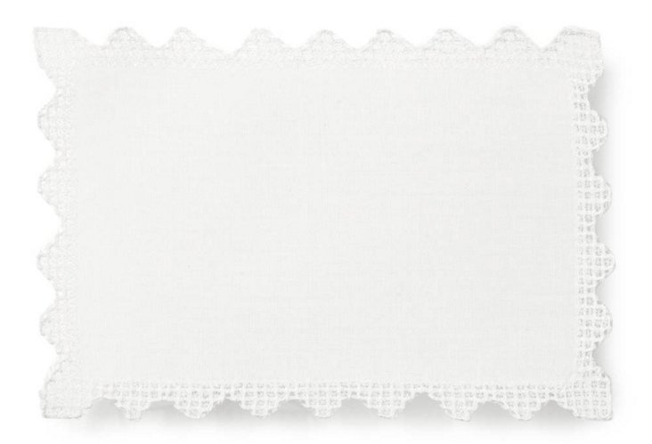 S/4 Rectangle Drawnwork Cocktail Napkins