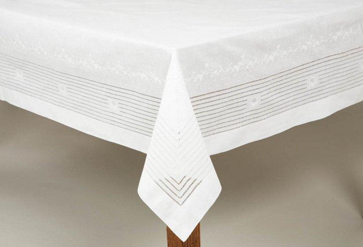 Art Nouveau Tablecloth & 18 Napkin Set